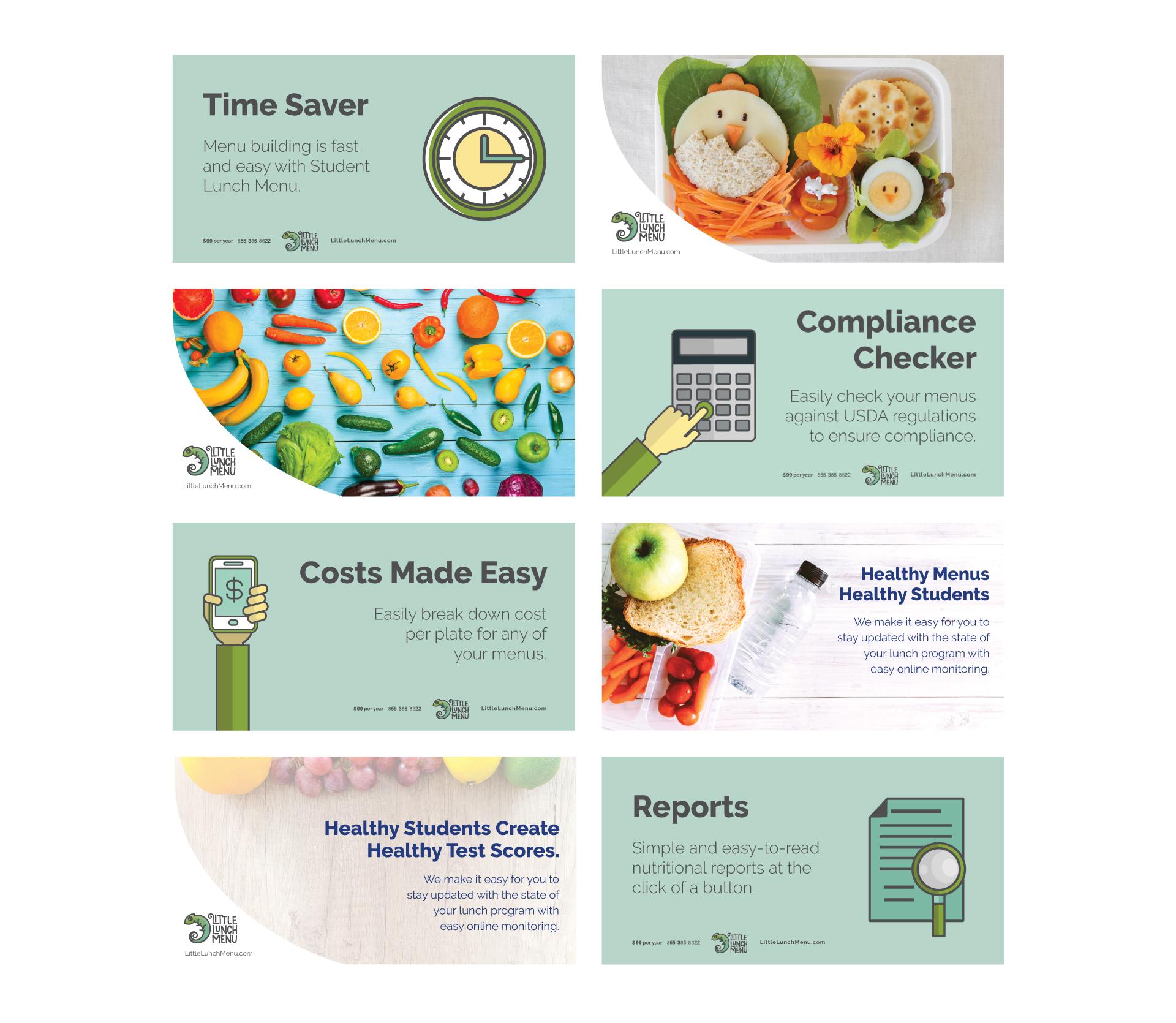 Little Lunch Menu Social Media Advertisements by Agency 877