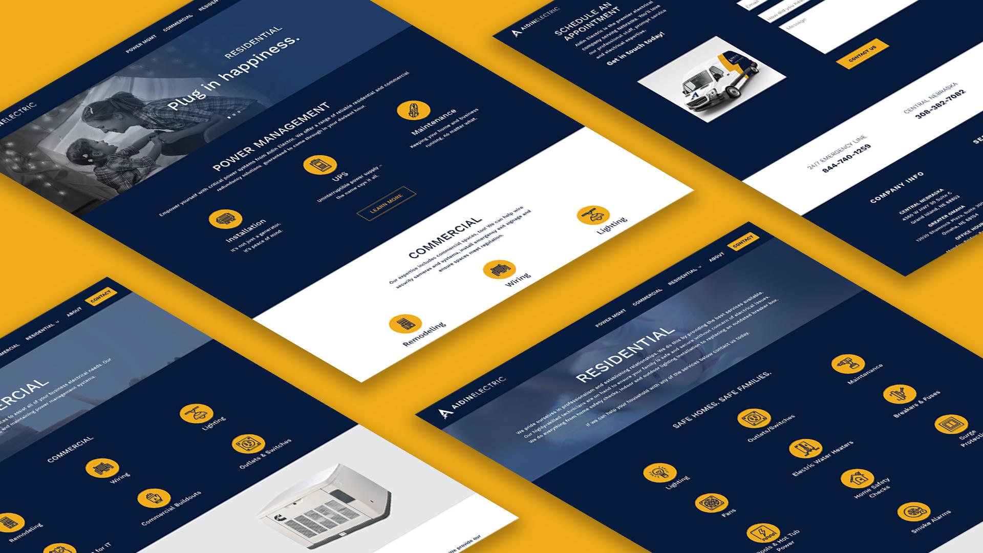 Aidin Electric ipad website display Agency 877