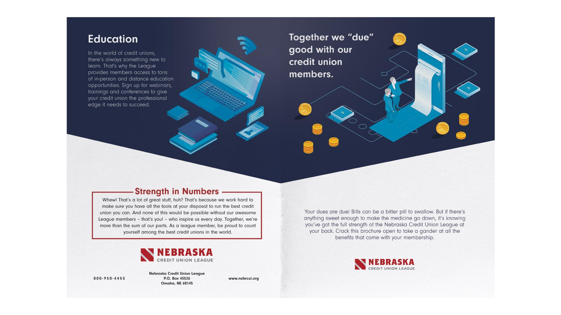 NCUL Nebraska Credit Union League Print brochure Agency 877
