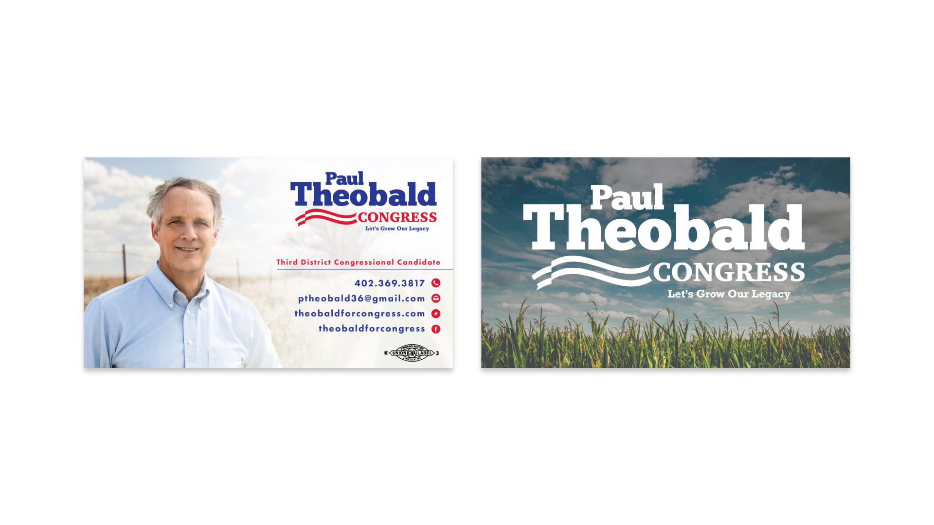 877's promotional print pieces for Paul Theobald's campaign2
